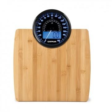 Ψηφιακή & Αναλογική ζυγαριά μπάνιου Bamboo G30017