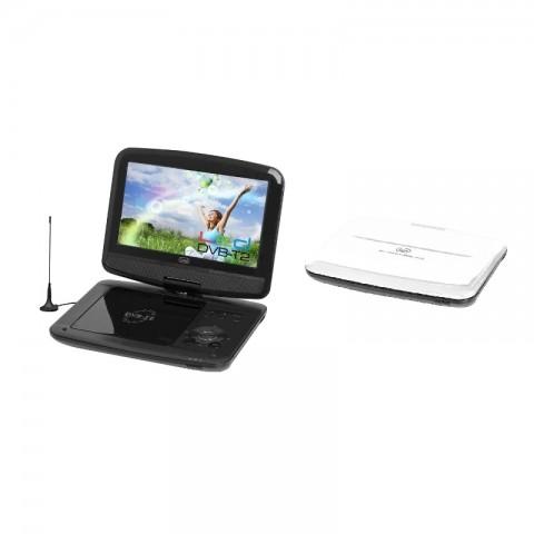 """Φορητή τηλεόραση και DVD player με οθόνη 9"""" DVBX-1413 WH"""