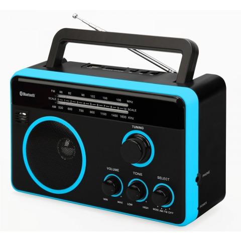Φορητό Ραδιόφωνο Bluetooth FTR-1617bk-bl