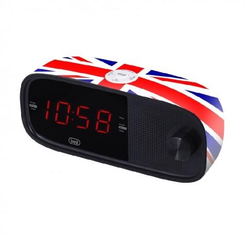 Ράδιο-Ρολόι FM Ρεύματος RC-853D UK FLAG