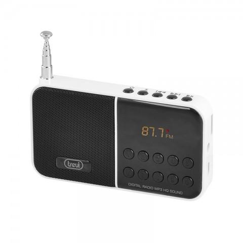 Ψηφιακό Φορητό ραδιόφωνο AM/FM DR-740 SD WH