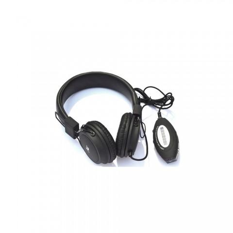 Σετ Αναδιπλούμενων Ακουστικών με ράδιο/USB player CR-1145