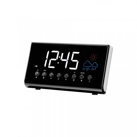 Ράδιο-Ρολόι με ένδειξη καιρού CR-718
