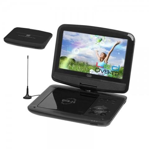 """Φορητή τηλεόραση και DVD player με οθόνη 9"""" DVBX-1418 BK"""