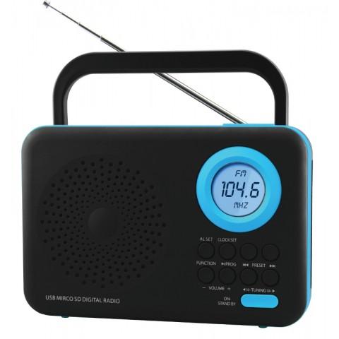 Φορητό Ψηφιακό Ραδιόφωνο FTR-1217bk-bl
