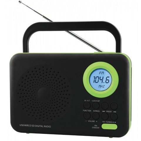 Φορητό Ψηφιακό Ραδιόφωνο FTR-1217bk-gr