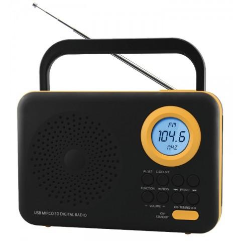 Φορητό Ψηφιακό Ραδιόφωνο FTR-1217bk-or