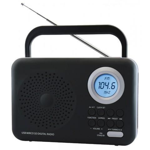 Φορητό Ψηφιακό Ραδιόφωνο FTR-1217bk-sl