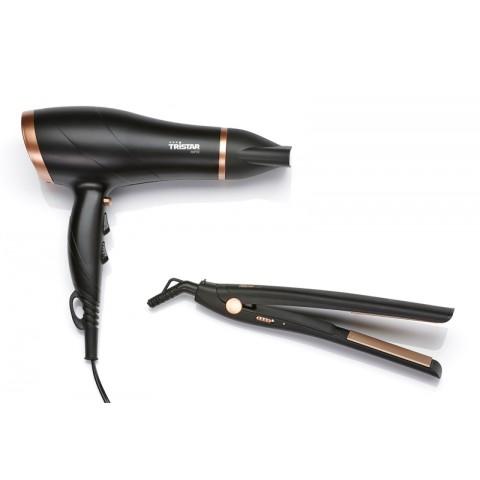 Σετ Δώρου Στεγνωτήρας & Ισιωτικό μαλλιών HD-2366