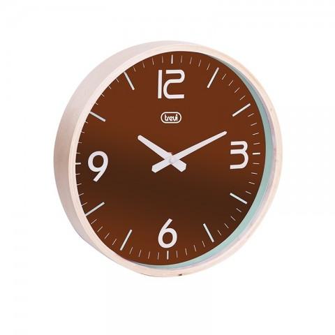Ρολόι τοίχου με ξύλινο πλαίσιο OM-3311 WD