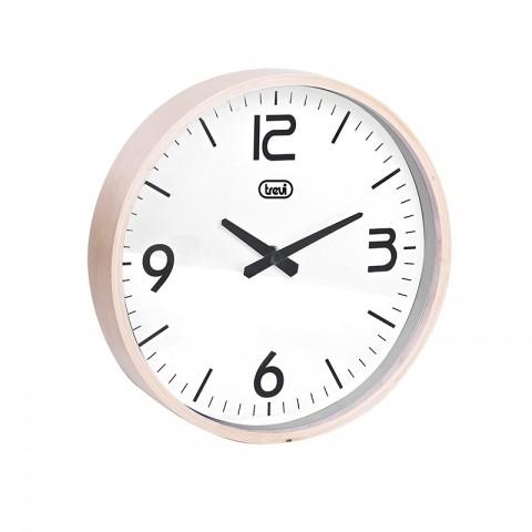 Ρολόι τοίχου με ξύλινο πλαίσιο OM-3311 WH